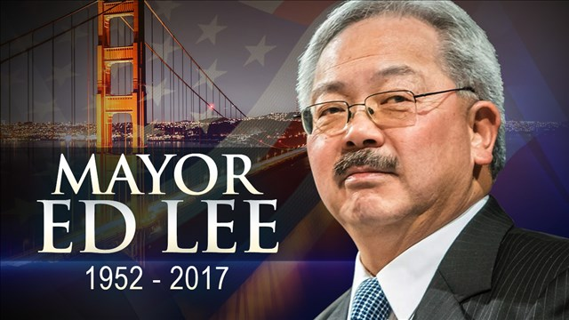 San Francisco Mayor Ed Lee died early this Morning.